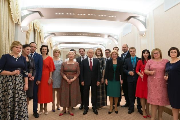 В.В. Путин встретился с лауреатами Всероссийского конкурса «Учитель года России»-2017
